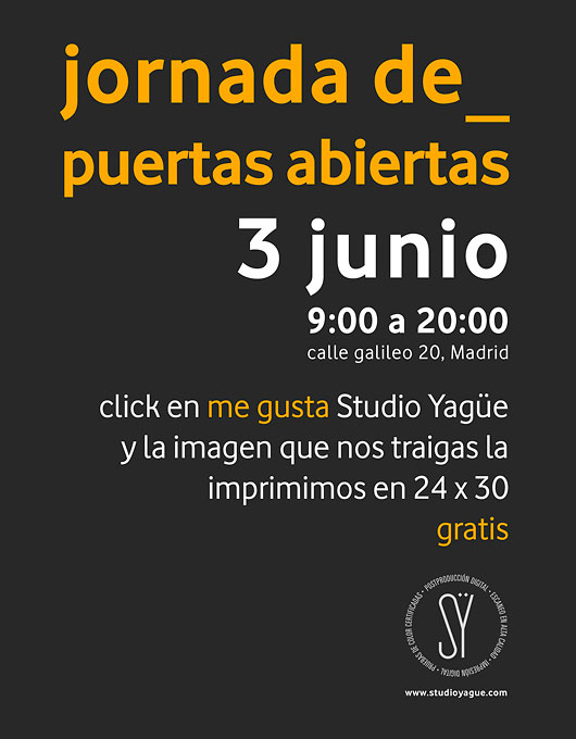 Studio Yagüe os regala una copia 24×30 gratis