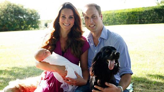 Chapuza real: foto oficial del bebé de Kate Middleton