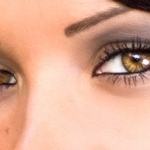 Tutorial de retoque de ojos de fantasía. Consigue un iris rayado y luminoso