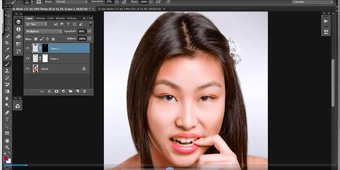 Tutorial Photoshop: enderezar y estrechar la raya del pelo