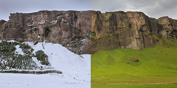 Tutorial de Photoshop: crear un paisaje nevado