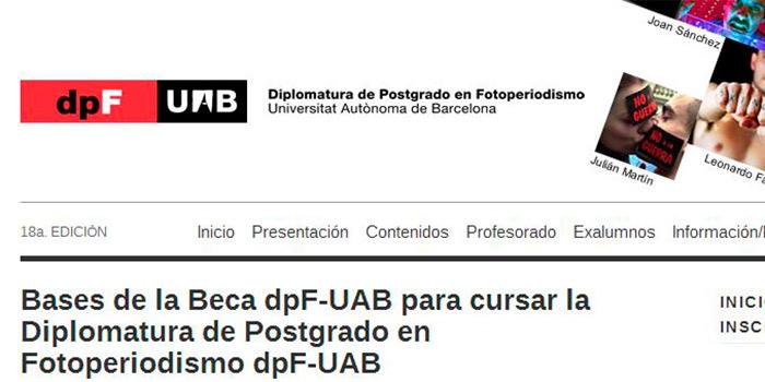 Beca para el máster de fotoperiodismo de la Universidad Autónoma de Barcelona