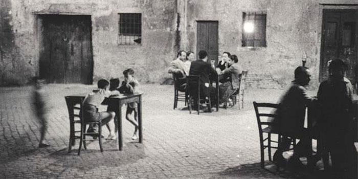 Colección Guido-Bertero-Cartier-Bresson_-Gente-al-Caffe-di-sera