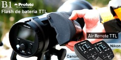 Profoto B1 el flash TTL fuera de cámara con la potencia del estudio y una velocidad de reciclaje única