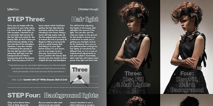 Nuevo número de la revista de iluminación Litebook: uso del snoot en fotografía de moda