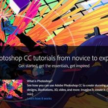 Más de 150 tutoriales de Photoshop CC ofrecidos gratuitamente por Adobe