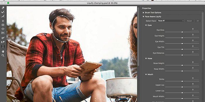 Novedades Photoshop CC 2015.5 Licuar con detección de caras