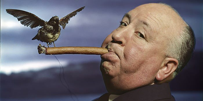 Hitchcock promotion The Birds (c) 2013 Philippe Halsman