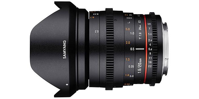 Nuevos objetivos Samyang de 20mm f 1.8 para cámaras de formato completo