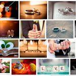 Cómo crear atractivos escenarios para fotografiar los anillos de boda