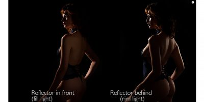 Esquema de iluminación con un solo flash de mano para fotografía de boudoir