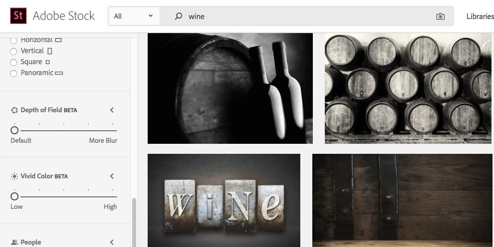 Adobe Stock añade a sus herramientas de búsqueda el filtrado por estilos gráficos