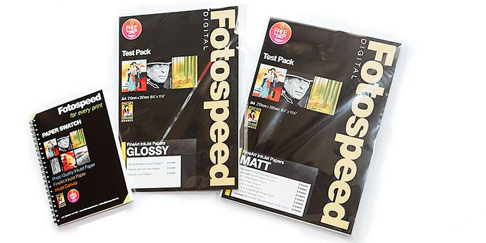 Paquetes de prueba de papel brillo y mate de alta calidad de FotoSpeed