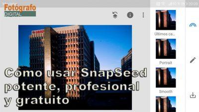 Tutorial: SnapSeed la app gratuita de edición y retoque profesional para móviles