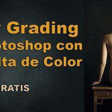 Color grading en Photoshop con Consulta de color vídeo tutorial