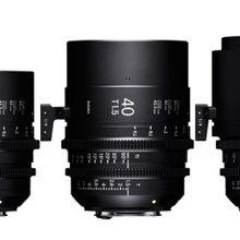 3 nuevos objetivos de Sigma Cine serie  FF High Speed Prime f/1.5