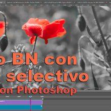 Tutorial: convertir vídeo a blanco y negro con color selectivo en Photoshop