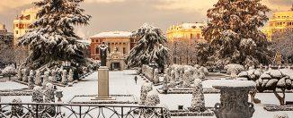 omnifoto- Nieve en el Retiro