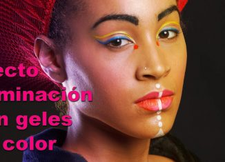 efecto iluminación con geles de color en Photoshop tutorial