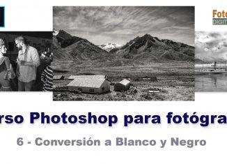 convertir fotos a blanco y negro con Photoshop