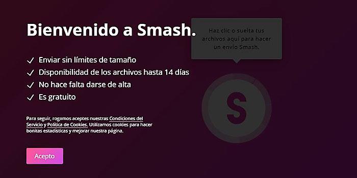 Smash, transferencia de archivos par fotógrafos