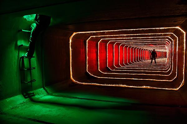 Fotografía nocturna creativa - verde-esperanza