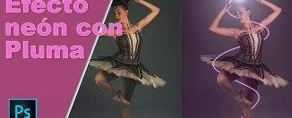 efecto-neon-en Photoshop con-herramienta-pluma