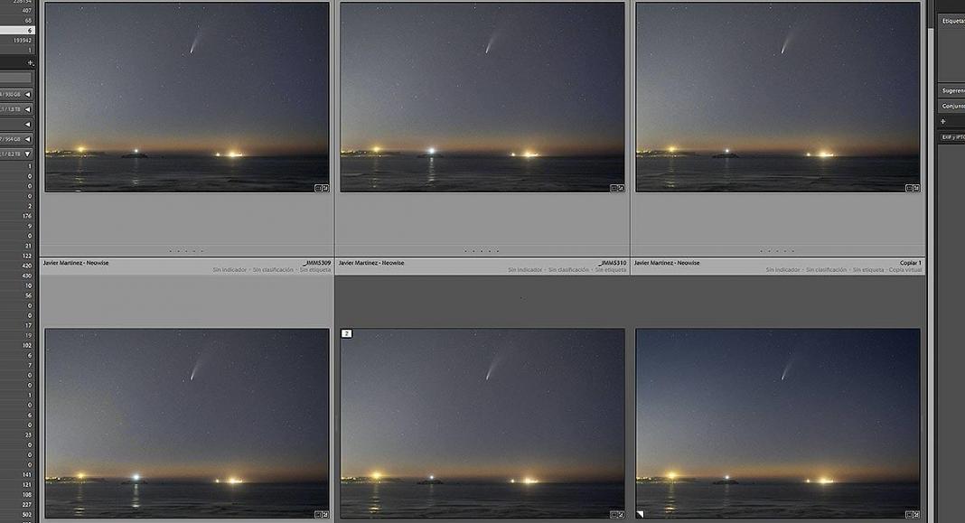 fotos raw de astrofotografía